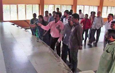 201801171029311708_BJP-Yuva-Morcha-shocker-Cow-urine-sprinkled-to-purify-venue_SECVPF