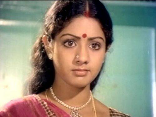 நடிகை ஸ்ரீதேவி கடைசியாக தமிழ் படத்தை வாழ்த்தி போட்ட டுவீட்
