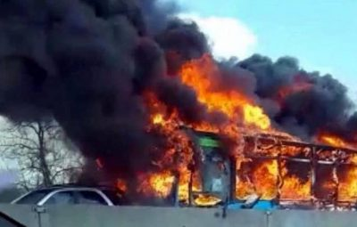Bus-in-flames