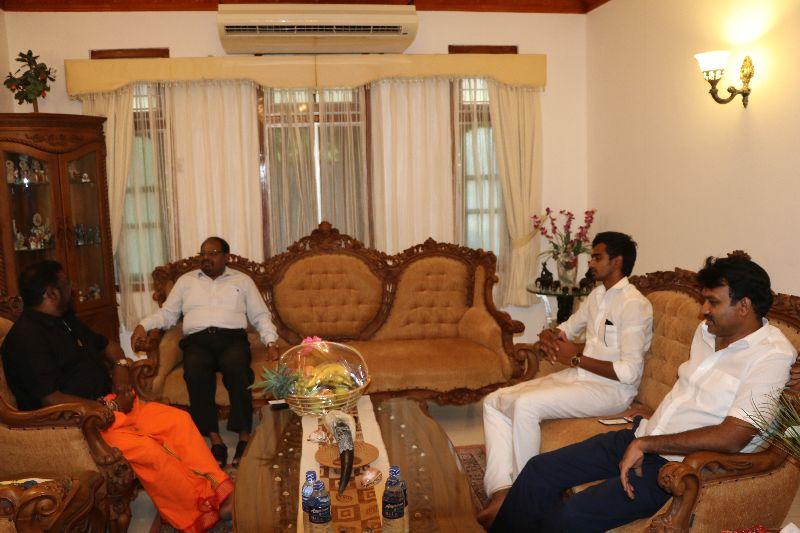 யாழ். இந்திய உதவி உயர்ஸ்தானிகர் மற்றும் ஆறுமுகன் தொண்டமான் இடையிலான சந்திப்பு