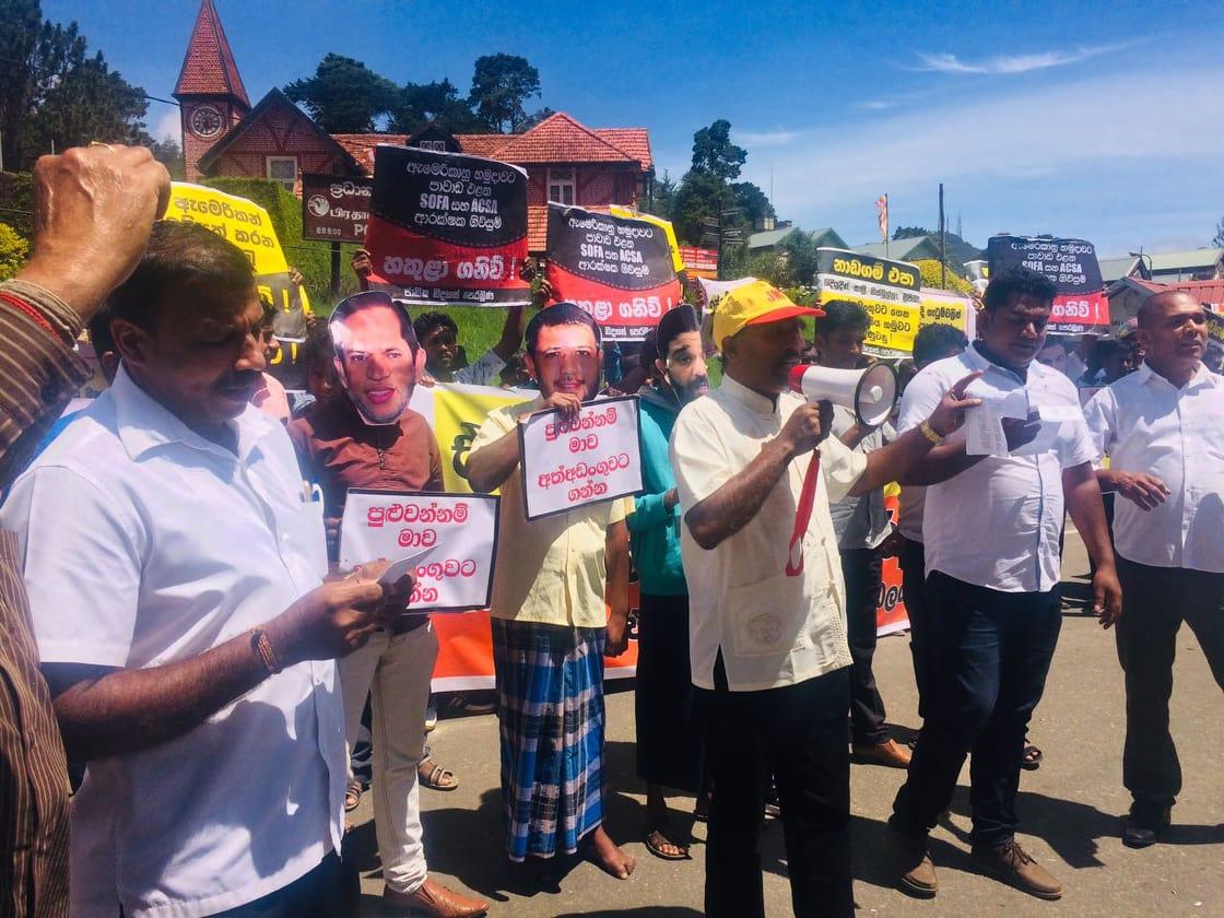 ரிஷாட், ஹிஸ்புல்லாஹ், அசாத் சாலிக்கு எதிராக பொதுமக்கள் நுவரெலியாவில் ஆர்ப்பாட்டம்