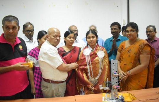 இளம் கண்டுபிடிப்பாளர் ரோகிதாவுக்கு வவுனியாவில் கௌரவிப்பு நிகழ்வு