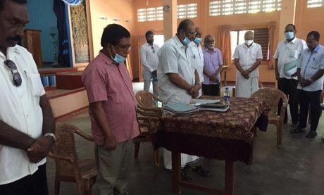 தமிழ் தேசியக் கட்சிகளின் ஒன்றிணைந்த கூட்டம்  இளங்கலைஞர் மண்டபத்தில் இன்று  நடைபெற்றது