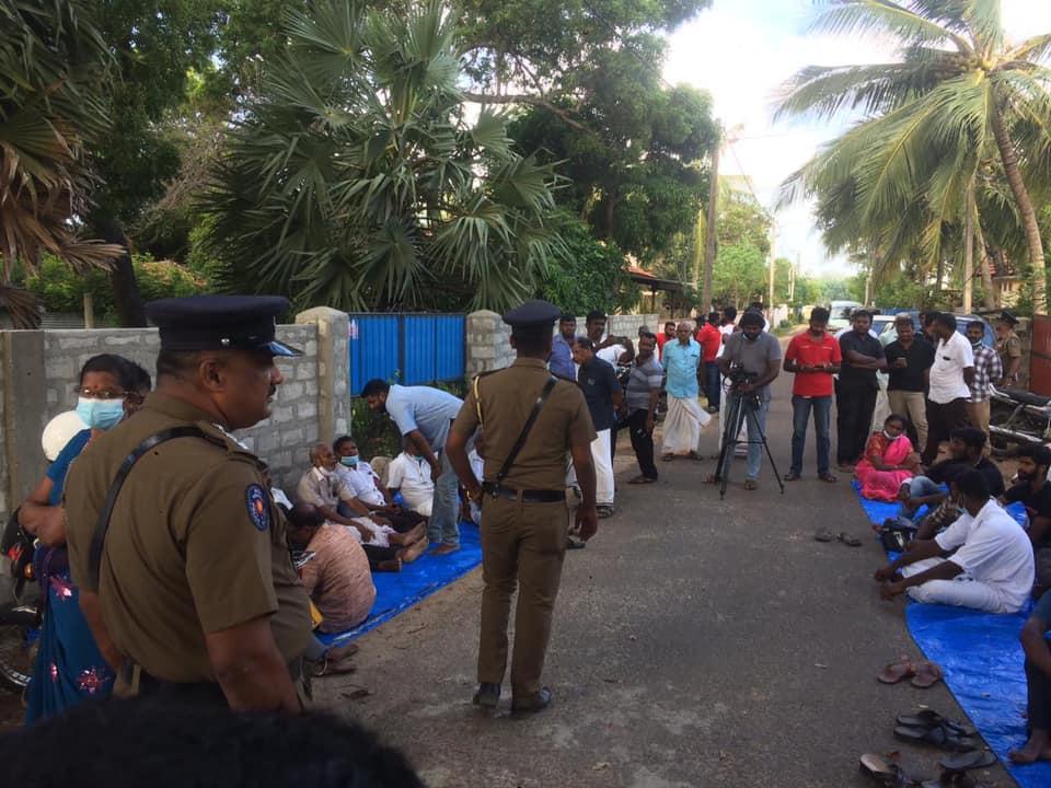Tamil parties demo